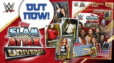 Topps WWE Slam Attax Universe Lot Of 10 Cards With One Relic Card