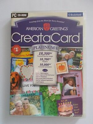 + Greeting Cards Software [3 Pc Cd-Roms] Greata Card [As New]