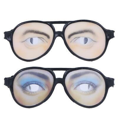 Funny Costume Eye Glasses Toy Halloween Party Prop Gag Gift #S5