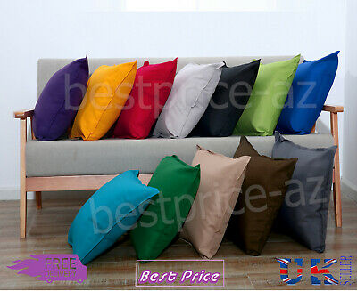 Plain Indoor Outdoor Waterproof Garden Furniture Filled Cushion Covers 2 Sizes