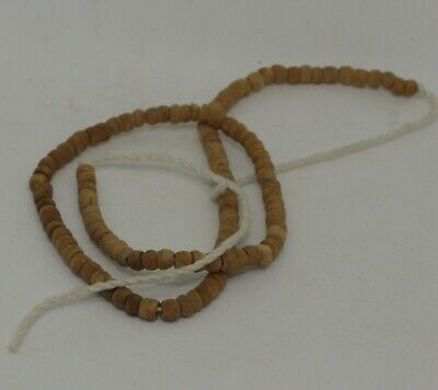 Ancient Egyptian Carved Bead Necklace 1300Bc 223