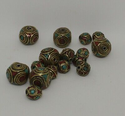 Quantity Of Post Medieval Silver Gilt & Enamel Beads
