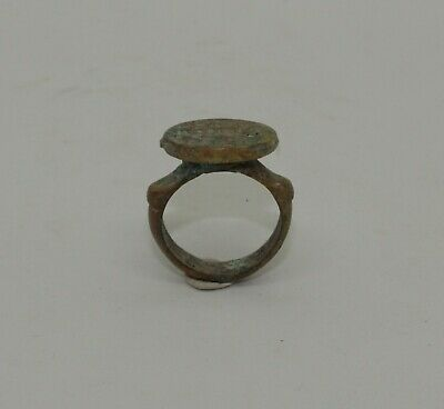 Quality Ancient Roman Greek Bronze Seal Ring  - Circa 100Ad  - 342