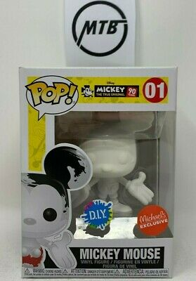 FUNKO POP DISNEY MICKEY MOUSE 01 DIY MICHAELS EXCLUSIVE green red blue purple