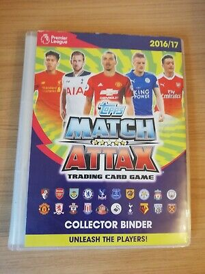 Topps Match Attax 2016/17 Binder & Over 250 Cards Lots Of Foils