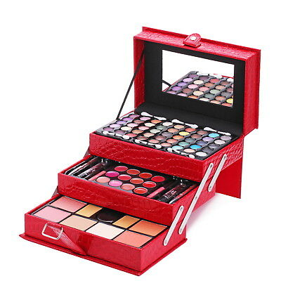 Mixed Eyeshadow Lip Gloss Makeup Kit Set All In One Professional Cosmetic Women2