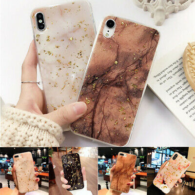 Shockproof Silicone Soft Bling Marble Case Cover For iPhone XS Max XR 8 7 6 Plus