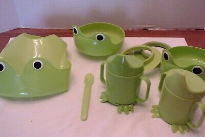Ikea Mata Baby Toddler Green Frog Dish Set New!!