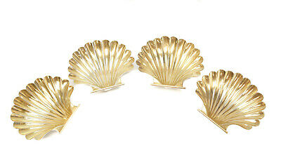 4 Cartier Gilt Sterling Silver Sea Shell Nut Dishes, #83