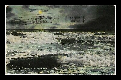 Dr Jim Stamps Us The Breakers By Moonlight Waves Illinois View Postcard