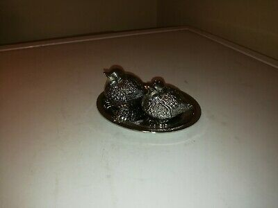 Silver Plated Salt & Pepper Cruets In The Form Of Birds