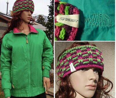 lot THE NORTH FACE midweight zip in jacket SPYDER chunky knit headband womens S