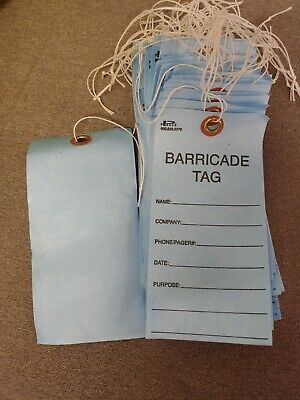 Parker Blue Barricade Tags, Pack of 50, New, Free Shipping