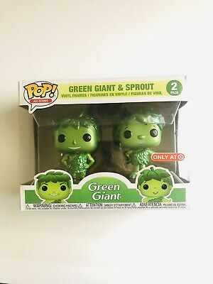 Funko Pop! Ad Icons Metallic Green Giant and Sprout Target Exclusive DMG BOX