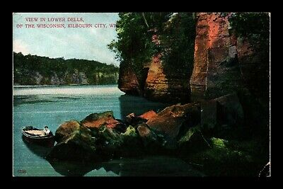 Dr Jim Stamps Us Lower Dells Wisconsin Kilbourn City View Postcard