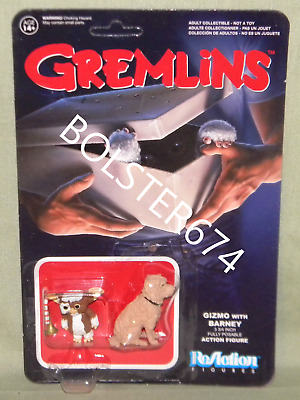 "GIZMO & BARNEY ReAction Super7 GREMLINS Retro 3.75"" Scale Action Figure Funko"