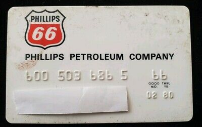 Phillips 66 Vintage Credit Card expires 1980 ♡Free Shipping♡ cc19