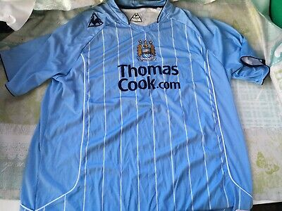 Manchester City Football Home Shirt 2007 2009 Size Adult XXL Extra Extra Large
