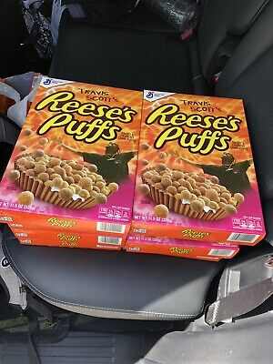 Travis Scott Reeses Puffs Cereal 8 Boxes Pack