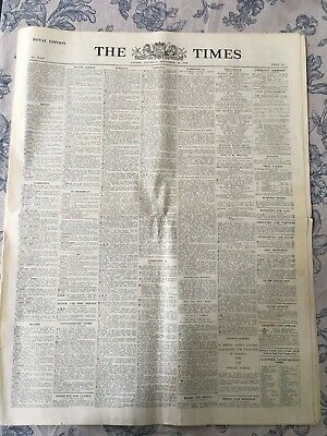 THE TIMES NEWSPAPER  Sept 30th 1939 WORLD WAR II LONDON WWII