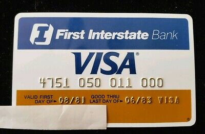 First Interstate Bank Visa Credit Card expires 1983 ♡Free Shipping♡ cc22