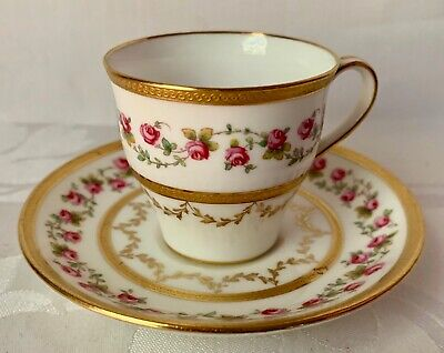 c1902 MINTONS DEMITASSE CUP & SAUCER; MADE FOR TIFFANY & CO, H265, GREAT COND