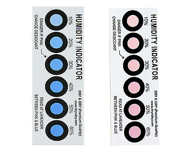 Dry & Dry Premium Humidity Indicator Cards 250 Pack - 10-60% 6 Spots (250 Cards)