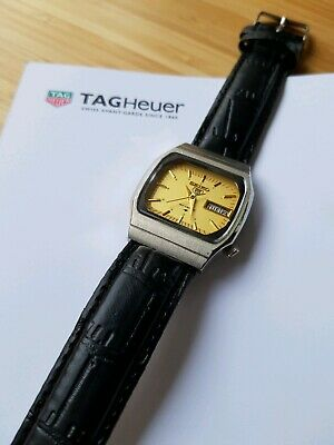 Vintage Seiko 5 gold face tv dial Watch with Day Date.  (6319-7000) retro