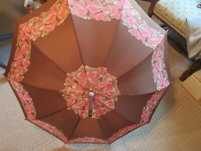 VINTAGE ITALIAN WOODEN UMBRELLA / PARASOL With Original Package