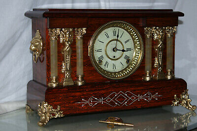 SETH THOMAS Mantel Antique Clock c/1901-Beatiful- Totally RESTORED --