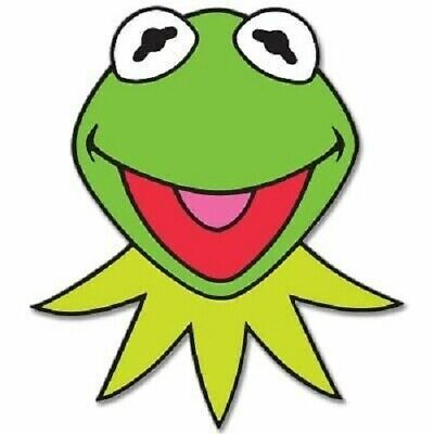 """KERMIT The Frog Muppets Jim Henson  Vinyl Sticker Decal 2 Pack of 5"""""""