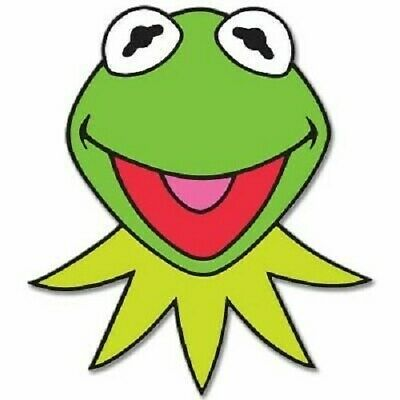 """KERMIT The Frog Muppets Jim Henson  Vinyl Sticker Decal 4 Pack of 2.5"""""""