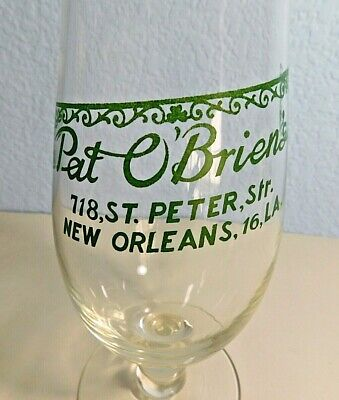 "VINTAGE 24 Oz Hurricane Glass 10"" Tall - From Pat OBrien's New Orleans LA"