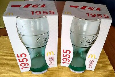 "Coca Cola McDonalds ""1955"" glass (2 glasses)"