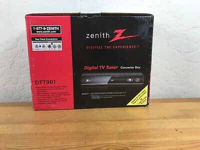 Zenith DTT901 Digital TV Tuner Converter Box for Analog TV - New Open Box