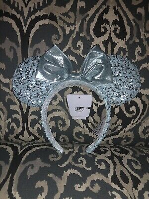 Arendelle Aqua Minnie Mouse Disney World Ears Ear Headband Frozen NOW AVAILABLE