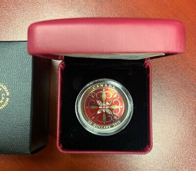 2015 $25 Fine Silver Coin Christmas Ornament - Royal Canadian Mint -