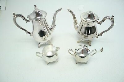 Elegance Silver 8918 Ashley Collection Coffee Set 4-Piece MISSING TRAY FOR PARTS