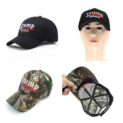 Donald Trump President 2020 Camouflage Embroidered Hat Baseball Cap AU