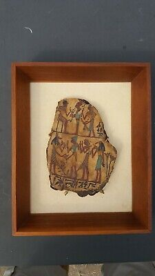 EGYPT CARTONNAGE FRAGMENT 6x4 INCHES  DEASSESSIONED MILLIKIN UNIVERSITY MUSEUM