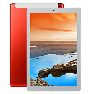 10.1 Inch Android 8.0 Ten-Core Tablet PC 64 GB WIFI Bluetooth HD With GPS Red