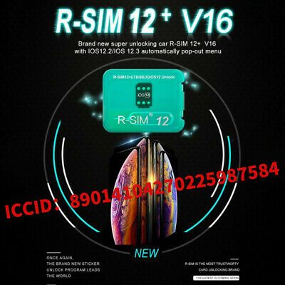 R-SIM12+ V16 NEW Nano Unlock Card RSIM for iPhone XS/X/8/7/6/ Plus 4G iOS 12.2