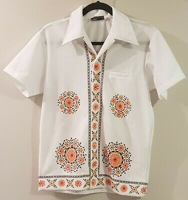 Bisley Size Small Vintage Retro Short Sleeved Button Up Shirt