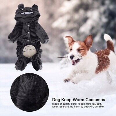 Cute Pet Dog Warm Jumper Clothes Puppy Cat Coat Winter Coral Fleece XS-XXL