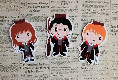 Harry Potter Magnetic Bookmarks   Harry, Hermione and Ron