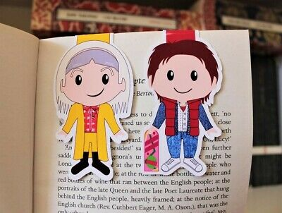 Back to the Future Magnetic Bookmarks   Doc and Marty