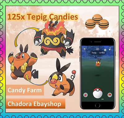 Pokemon Go Emboar - Tepig candies - Candy Farm - Catch - High CP