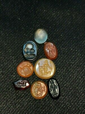 Ancient Roman Garnete, Agate and Carnelian Ring Stones