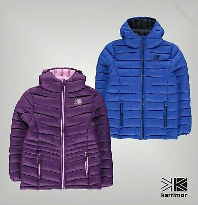 Boys Girls Karrimor Fixed Hood Hot Crag Insulated Jacket Sizes from 7 to 13