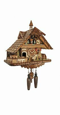 Quartz Cuckoo Clock big Black forest house with music and dan.. EN 45110 QMT NEW